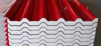 Telha termoacustica vermelha