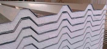 Telha trapezoidal de aço galvanizado
