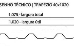 TRAPEZOIDAIS TP 40 - 1020